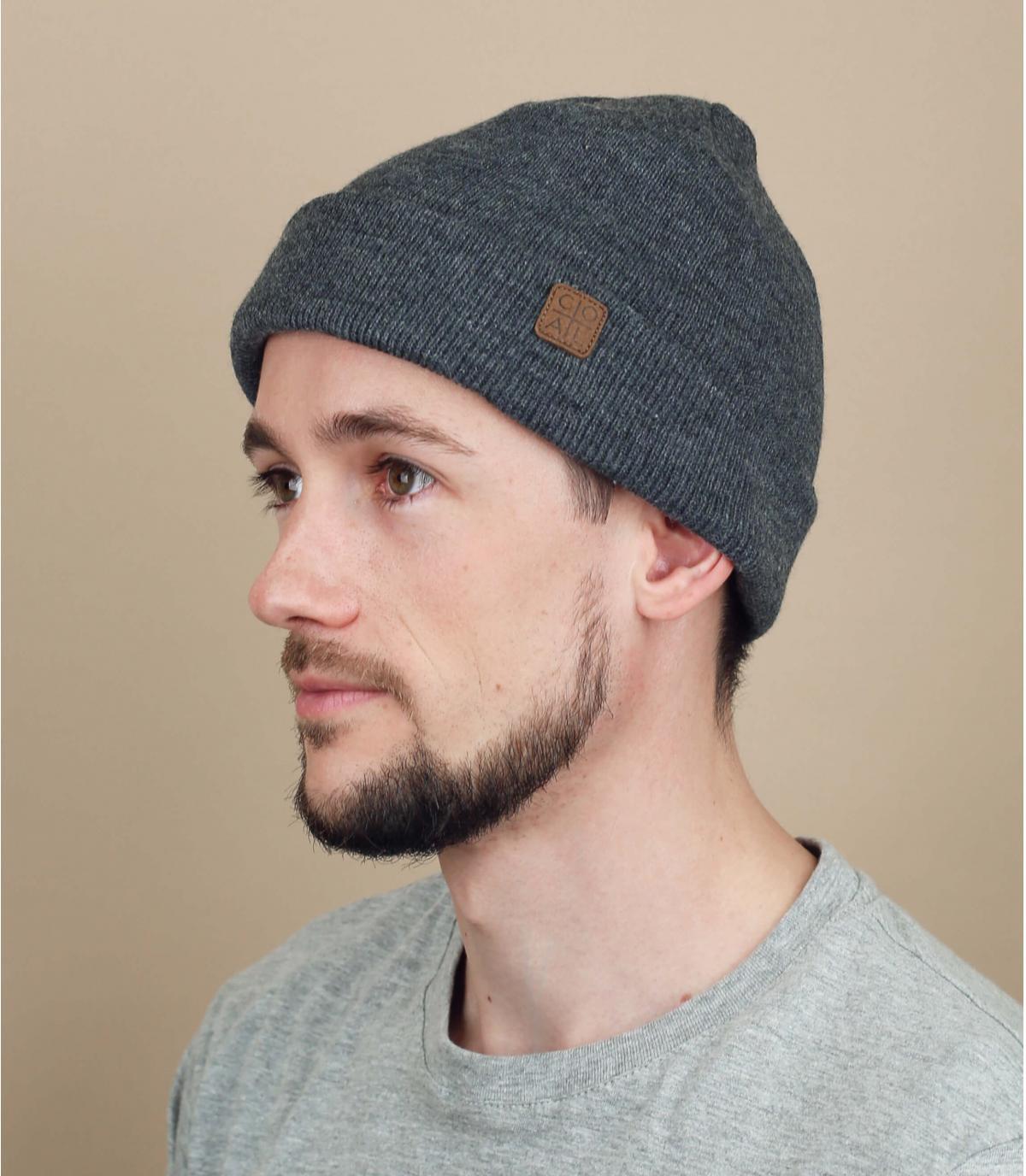 bonnet docker gris foncé