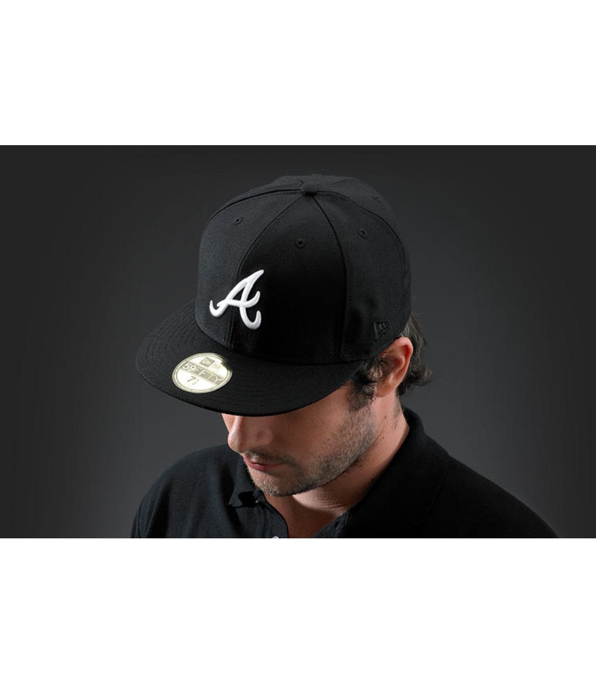 casquette atlanta noir blanche