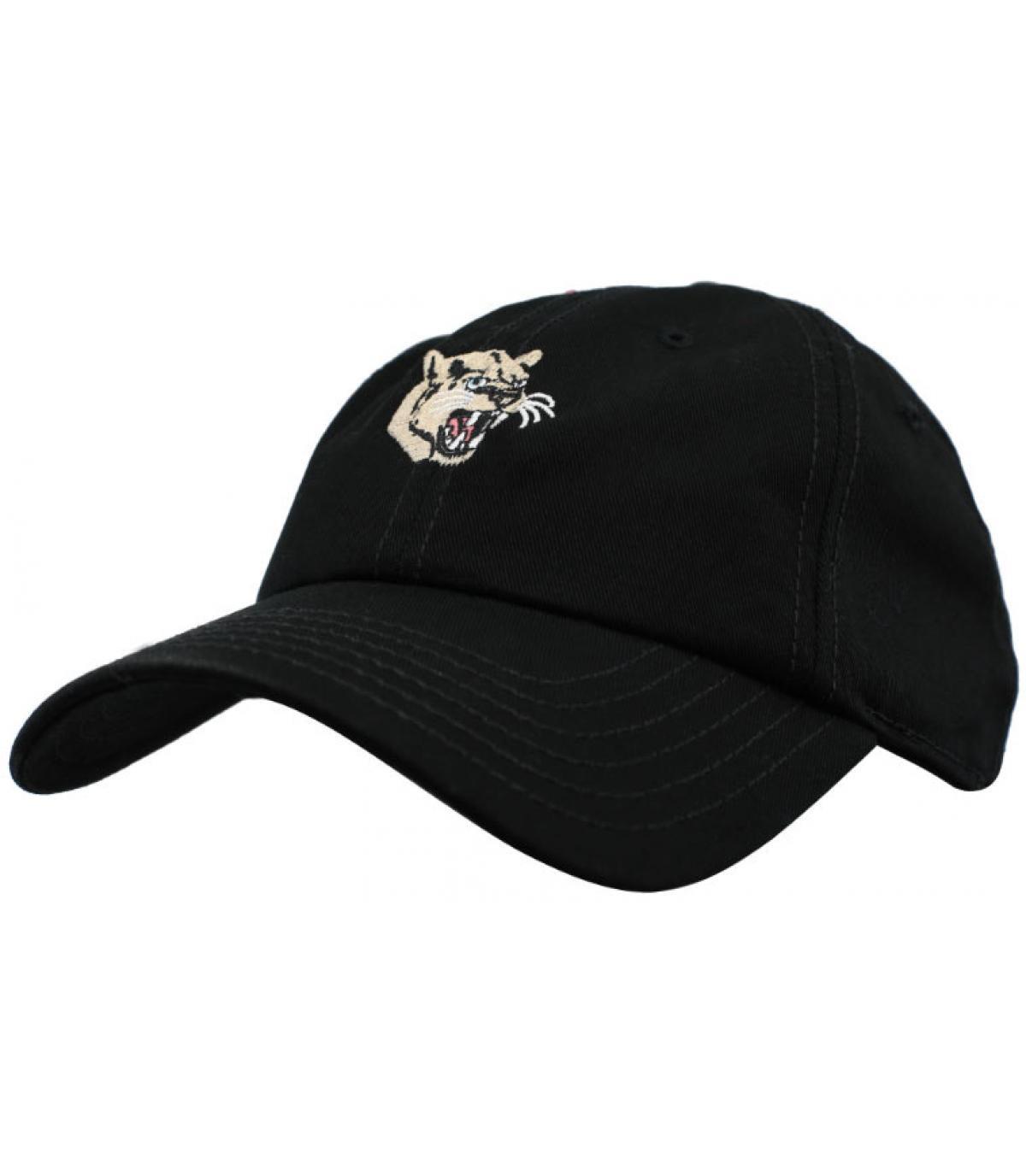 casquette panthère noir Wemoto