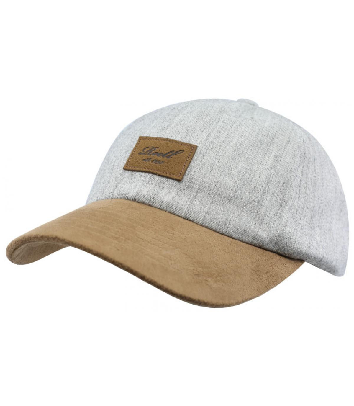 casquette gris Reell patch