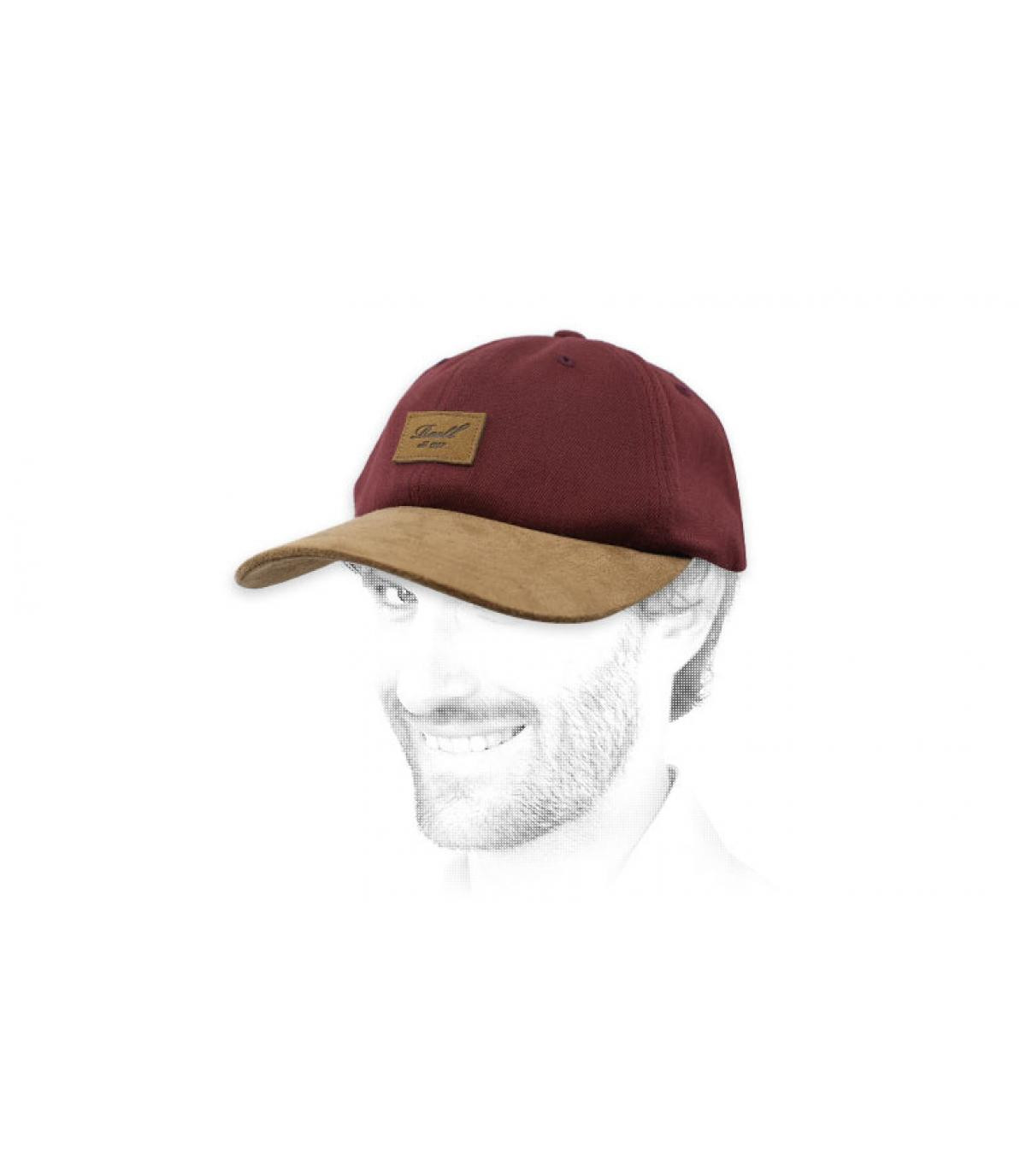 casquette Reell bordeaux