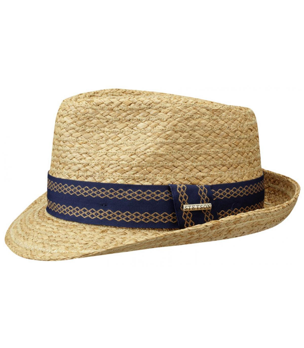 Chapeau de paille bandeau mauve