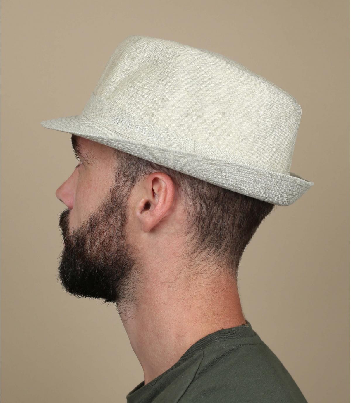 Chapeau lin ecru