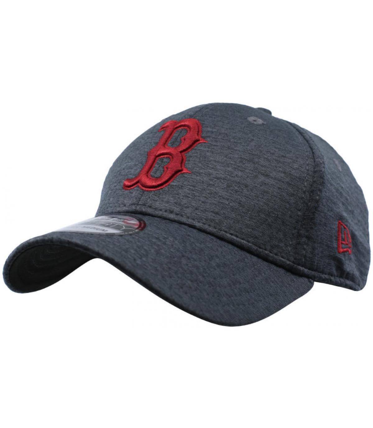 casquette B noir bordeaux