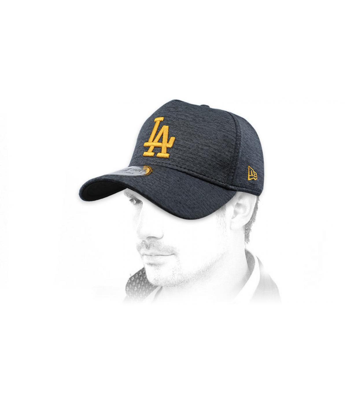 casquette LA noir jaune