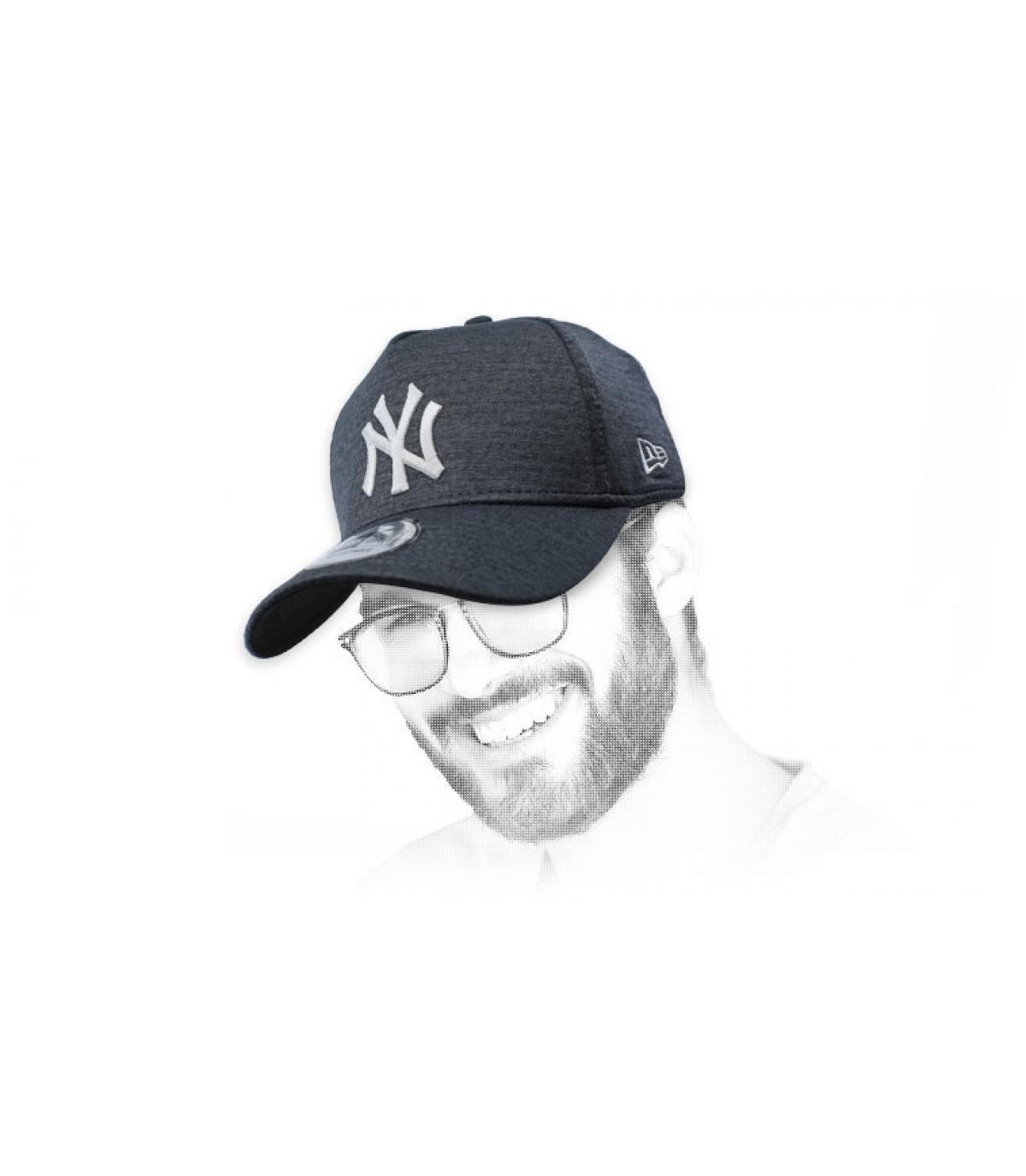 casquette NY noir gris Aframe