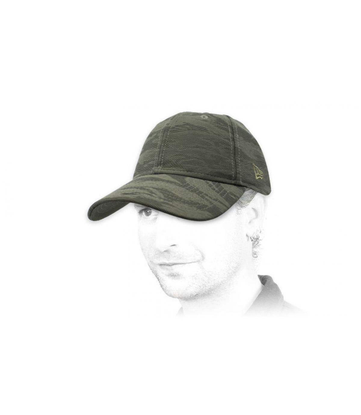 casquette New Era camo gris