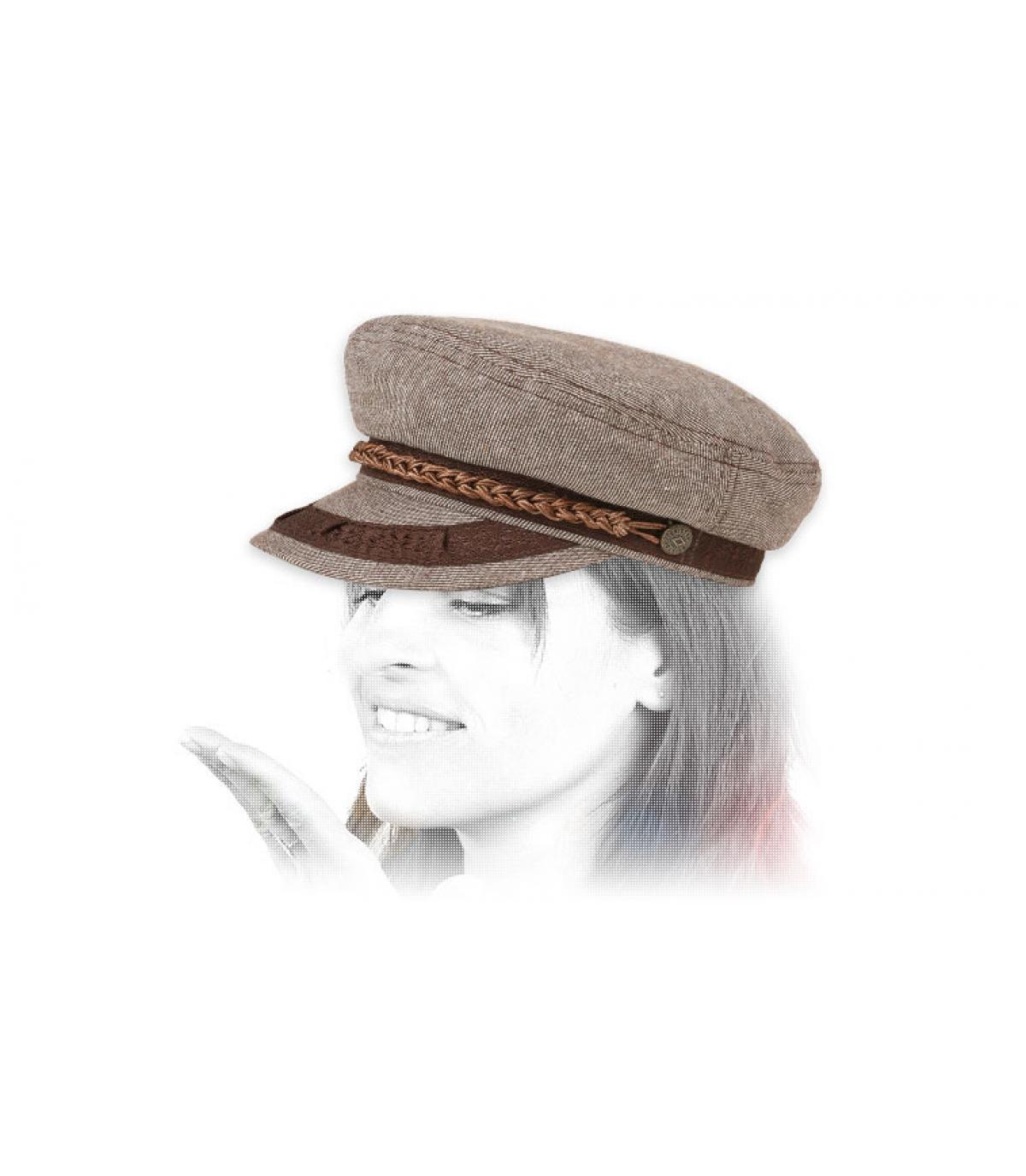 casquette marin beige Brixton