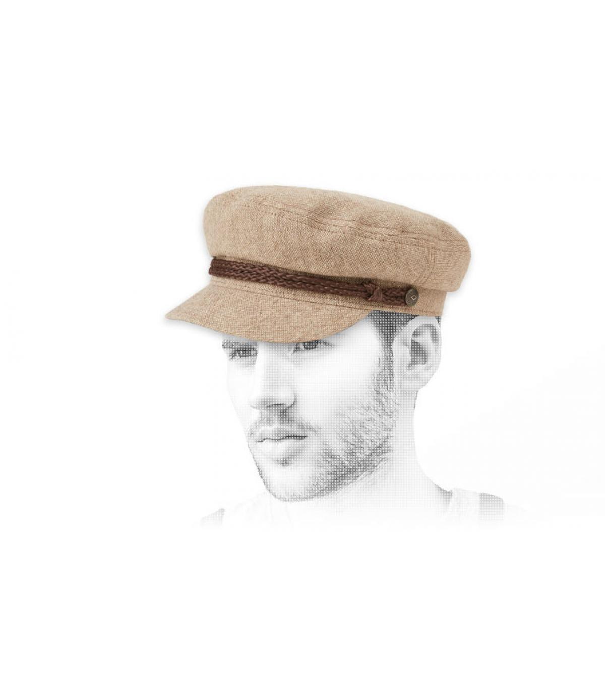 casquette marin beige