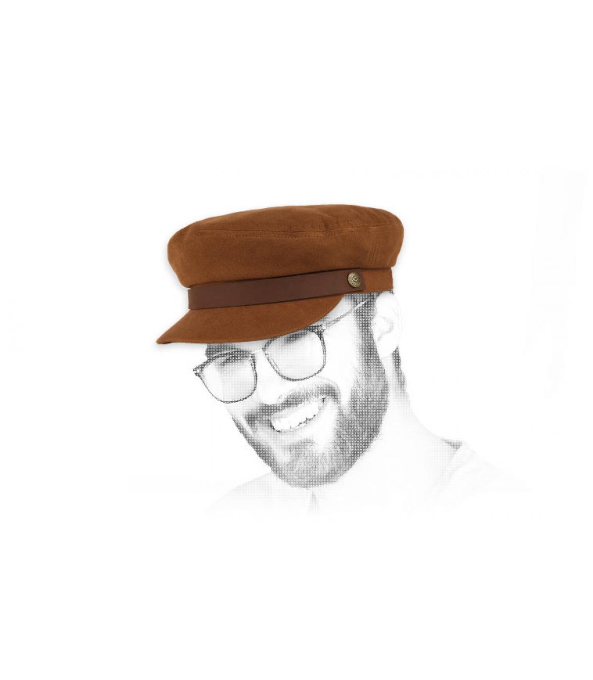casquette marin marron