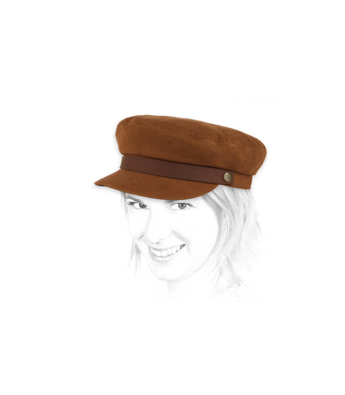casquette marin femme marron