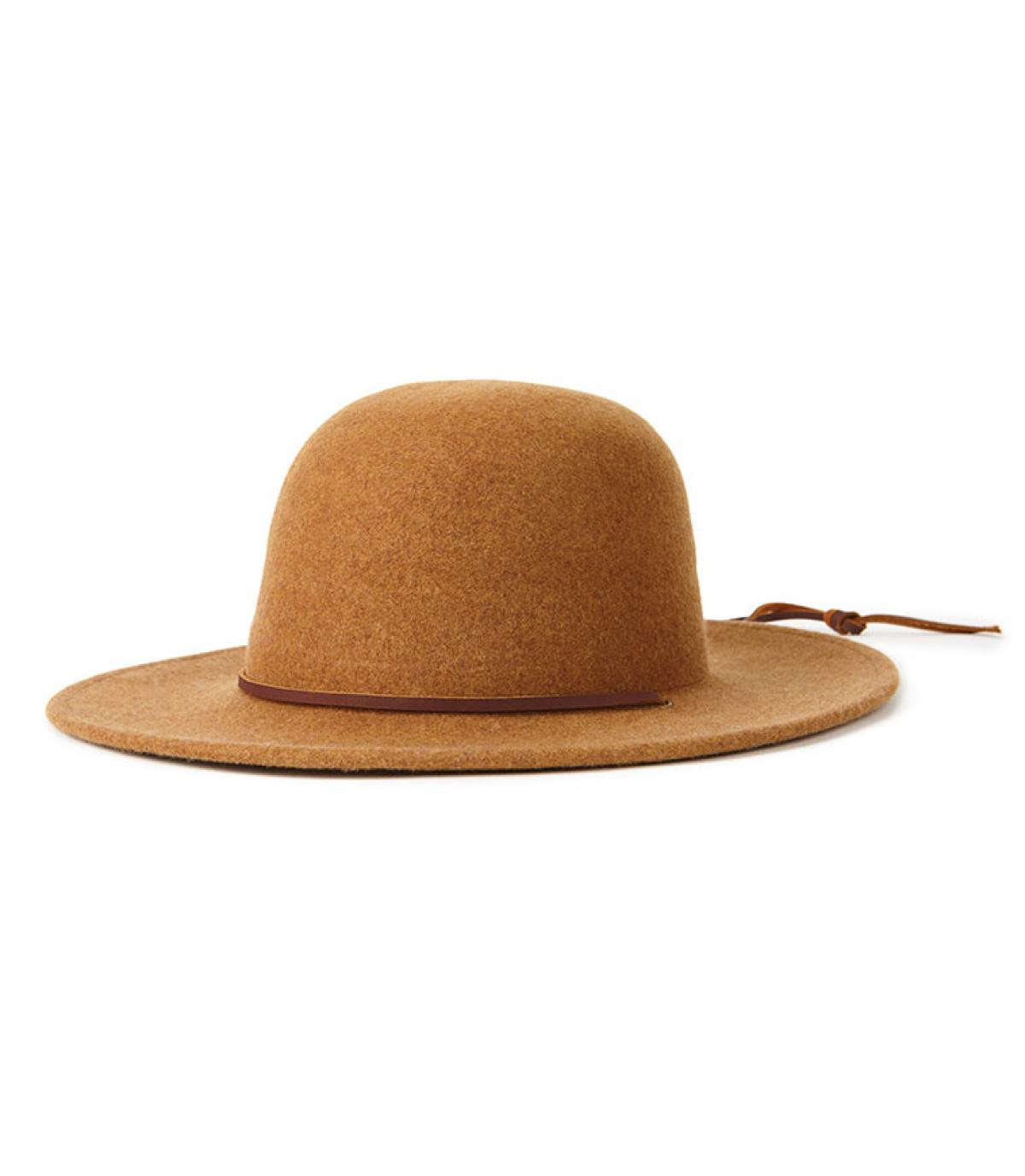 chapeau feutre beige Brixton