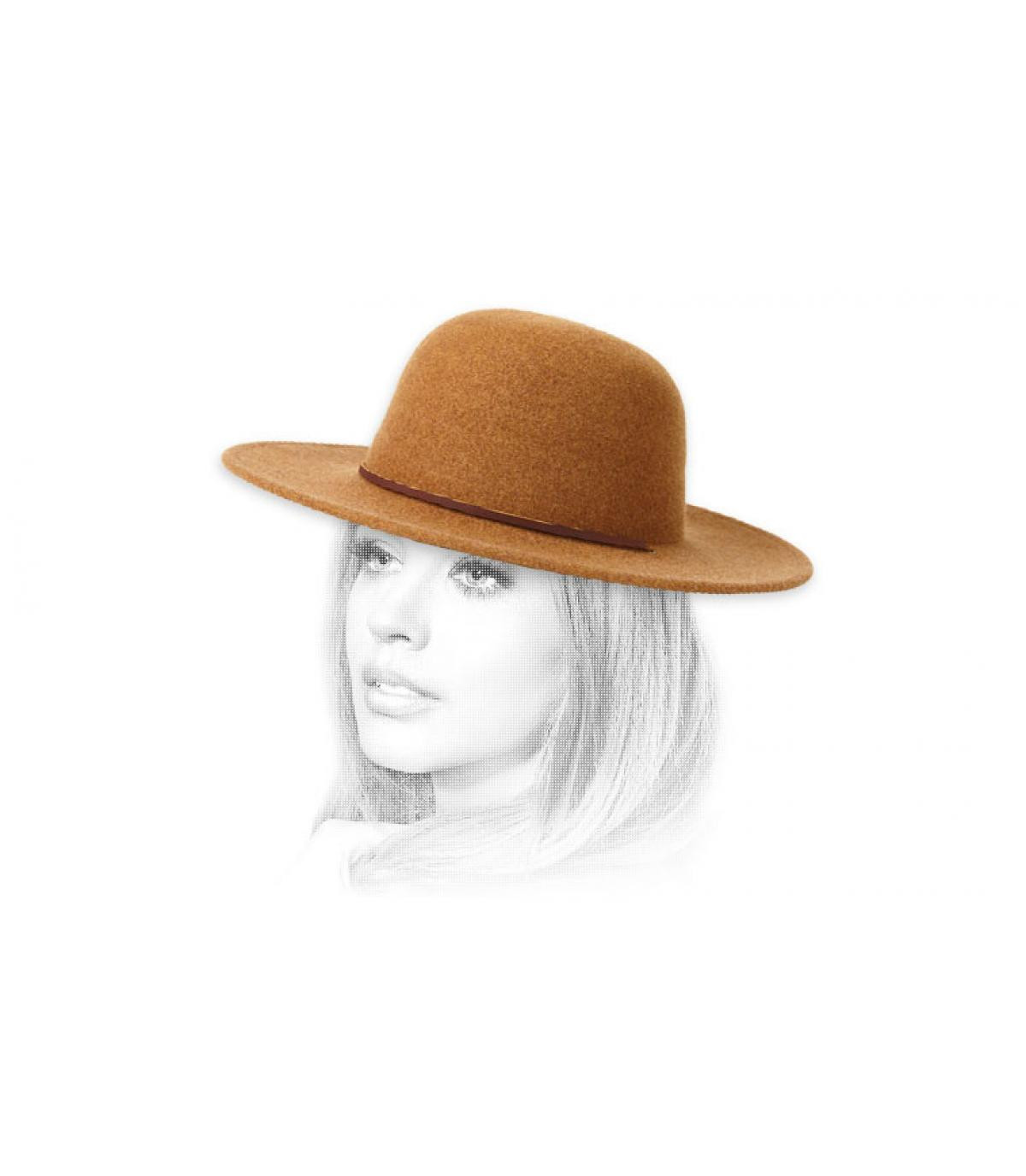 chapeau feutre femme beige