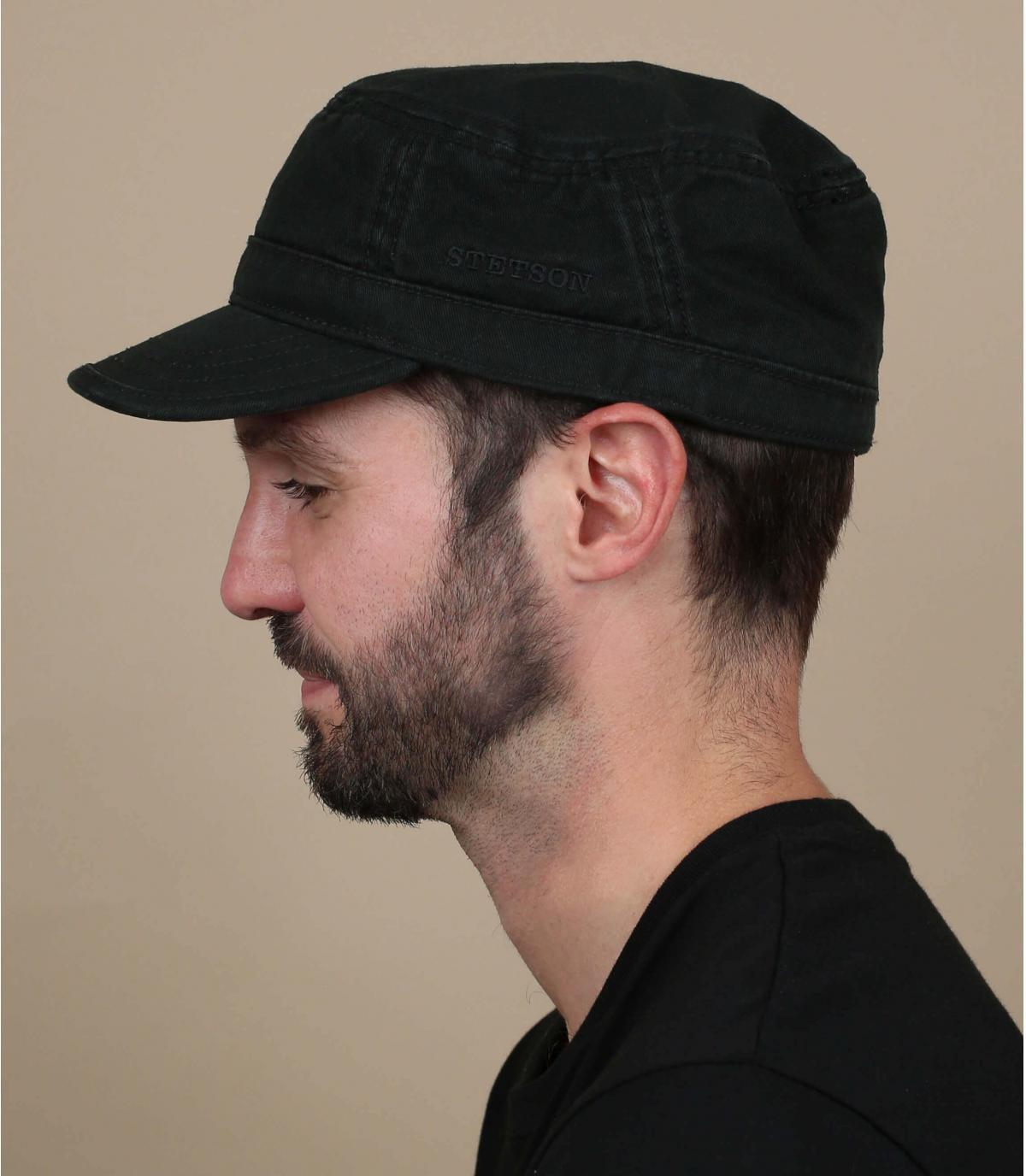 casquette army noir stetson
