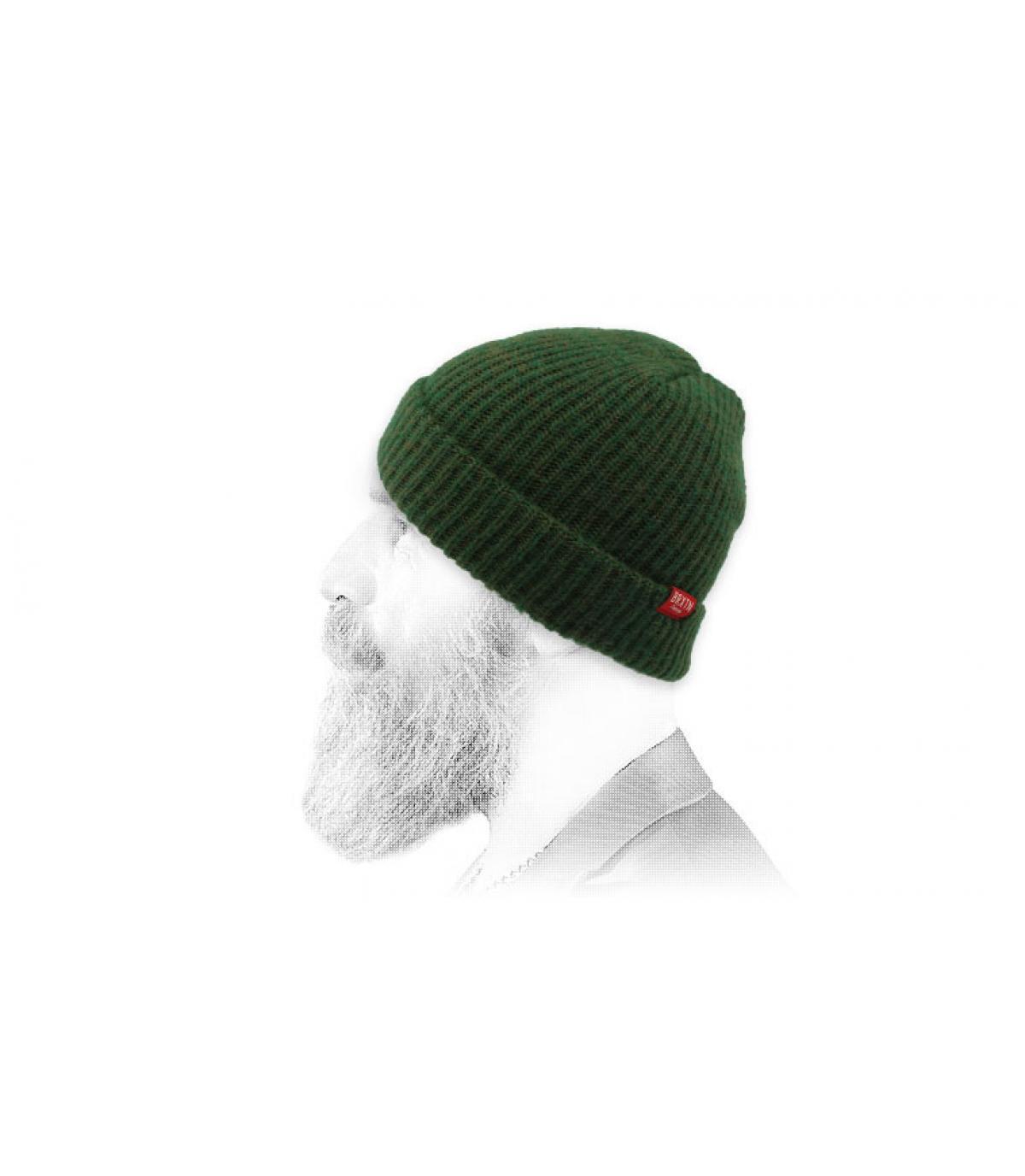 bonnet vert foncé Brixton