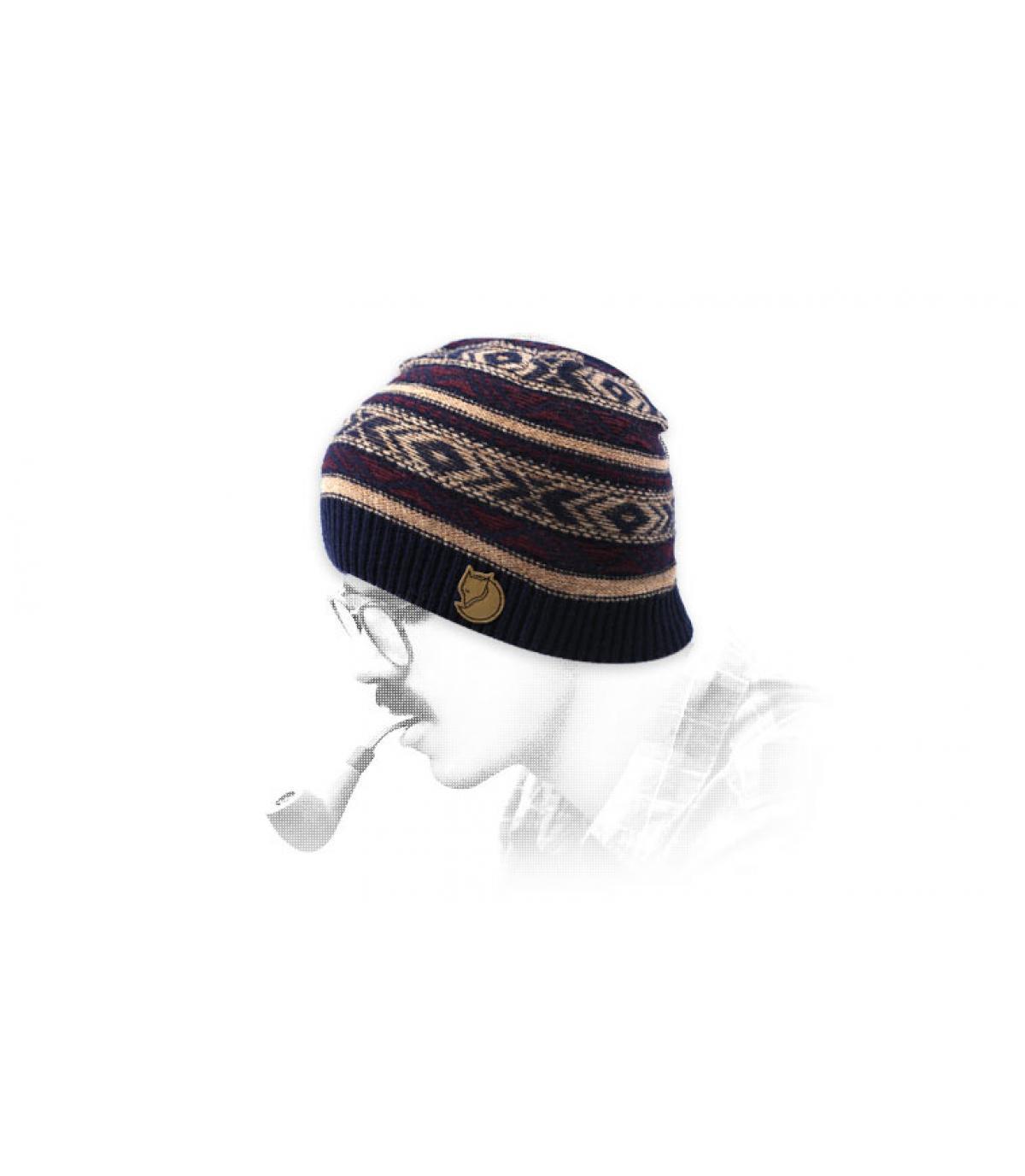 bonnet motif laine Fjällräven