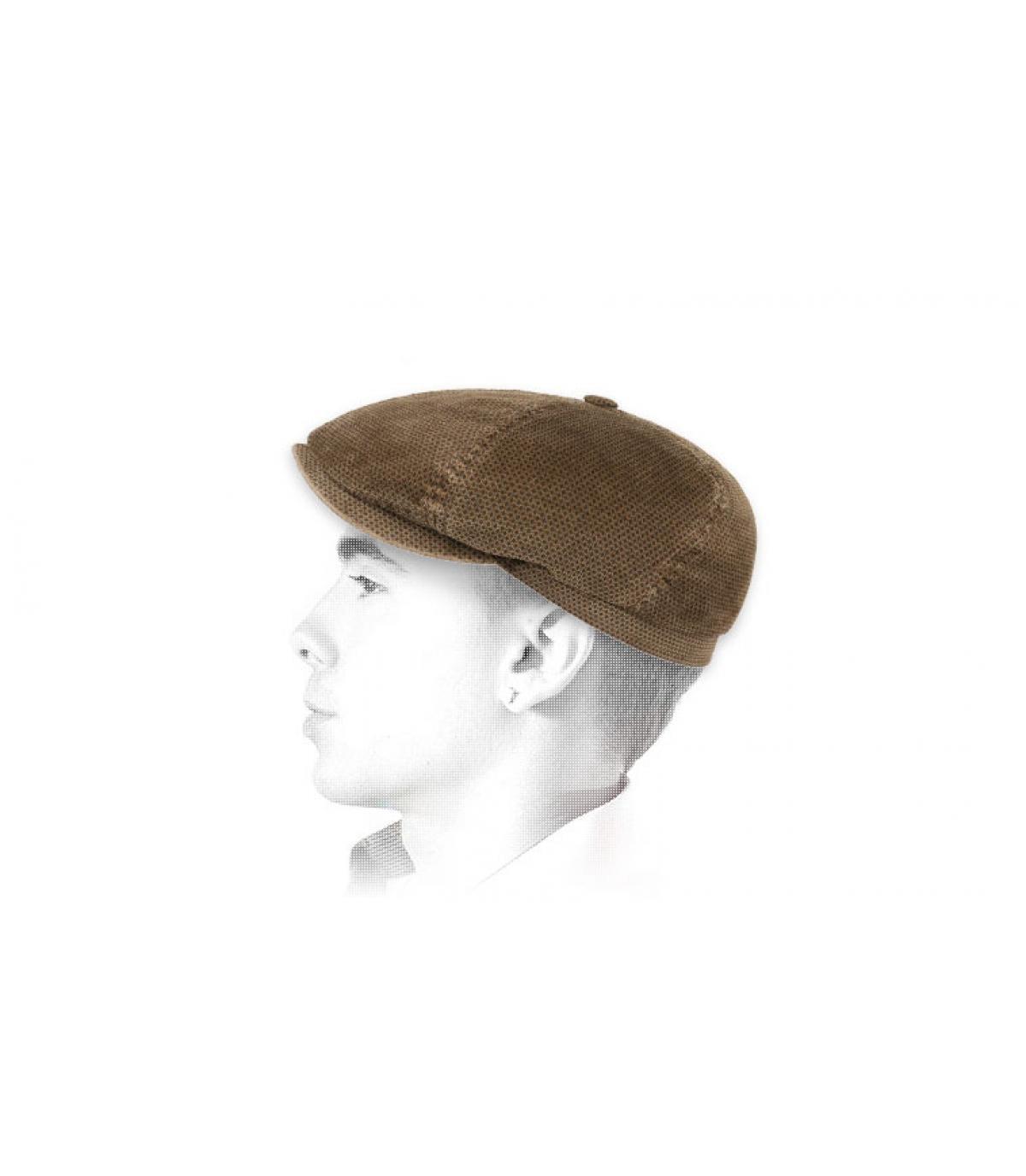 casquette gavroche velours brun