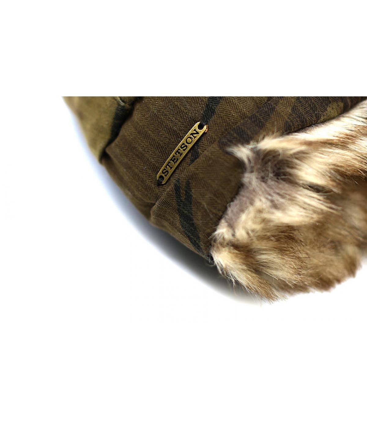 Détails Bomber Cap Waxed Cotton Camouflage - image 3