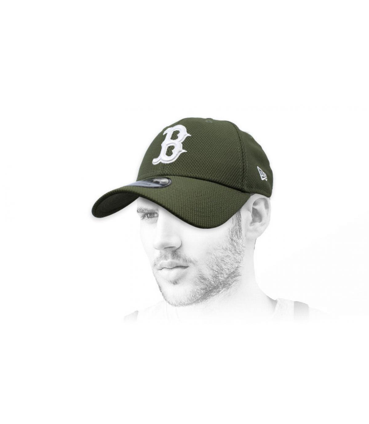 casquette B vert Diamond