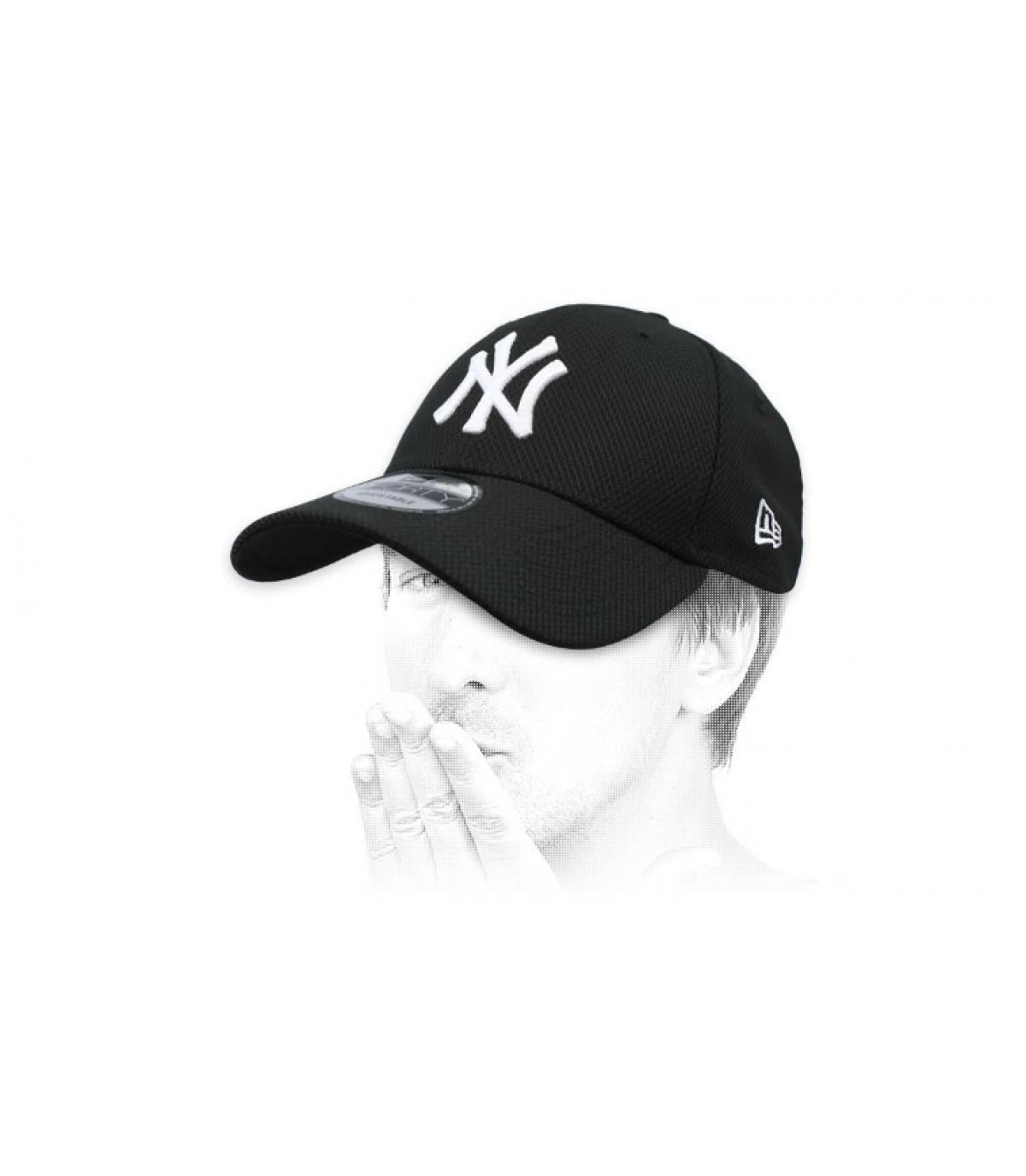 casquette noir NY Diamond