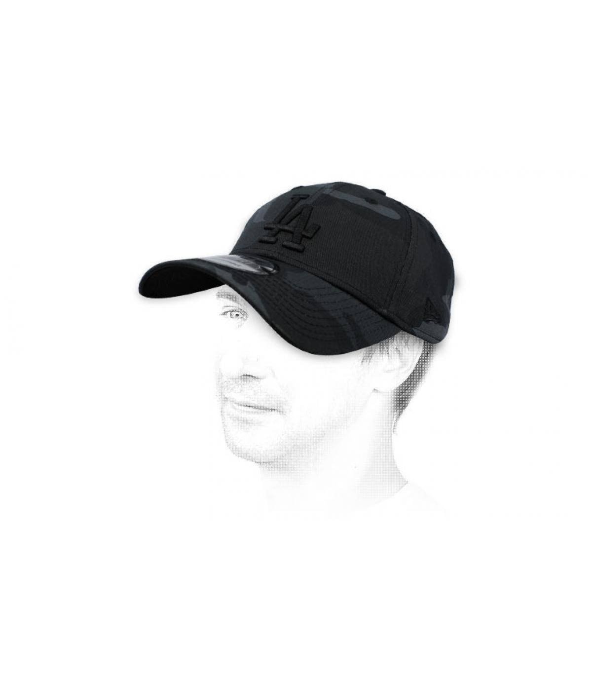 casquette LA camo noir