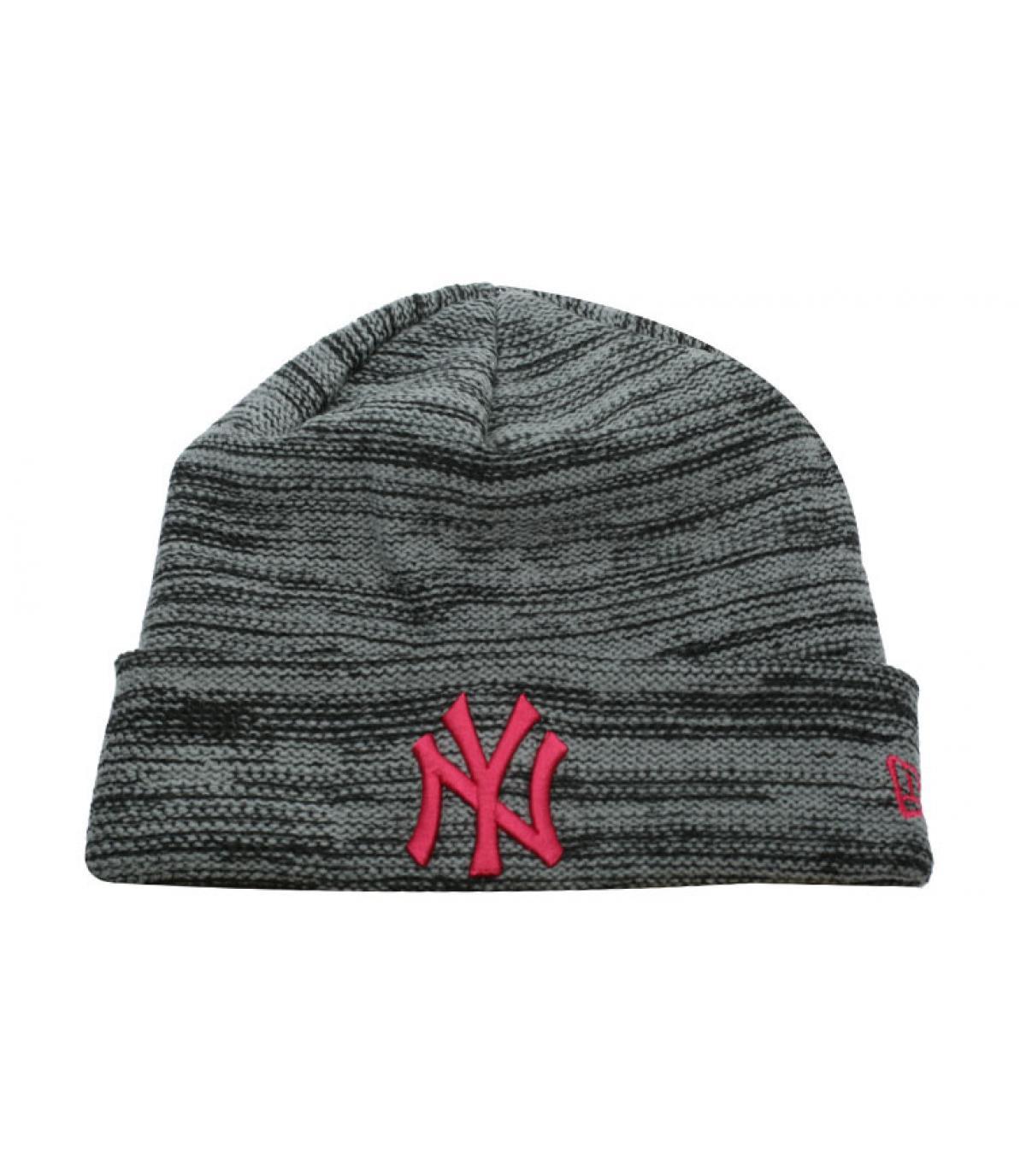 bonnet gris rose NY