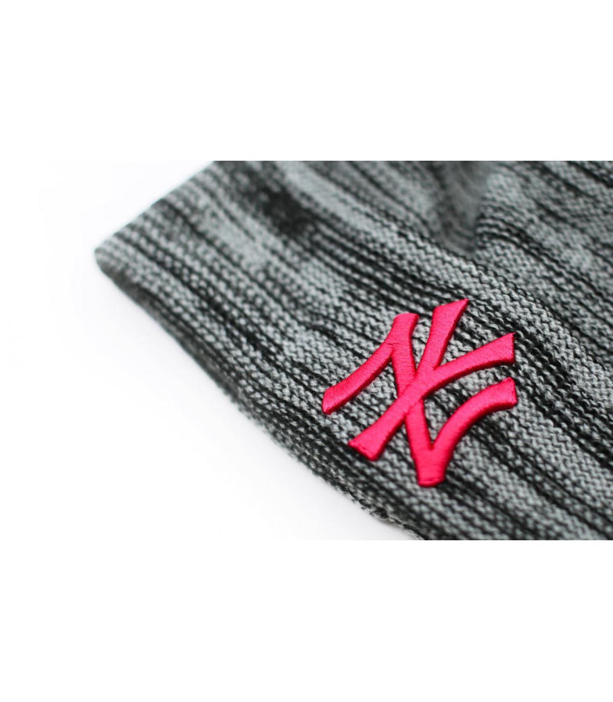 Détails Bonnet Wmns NY Marl Knit gray beetroot - image 3