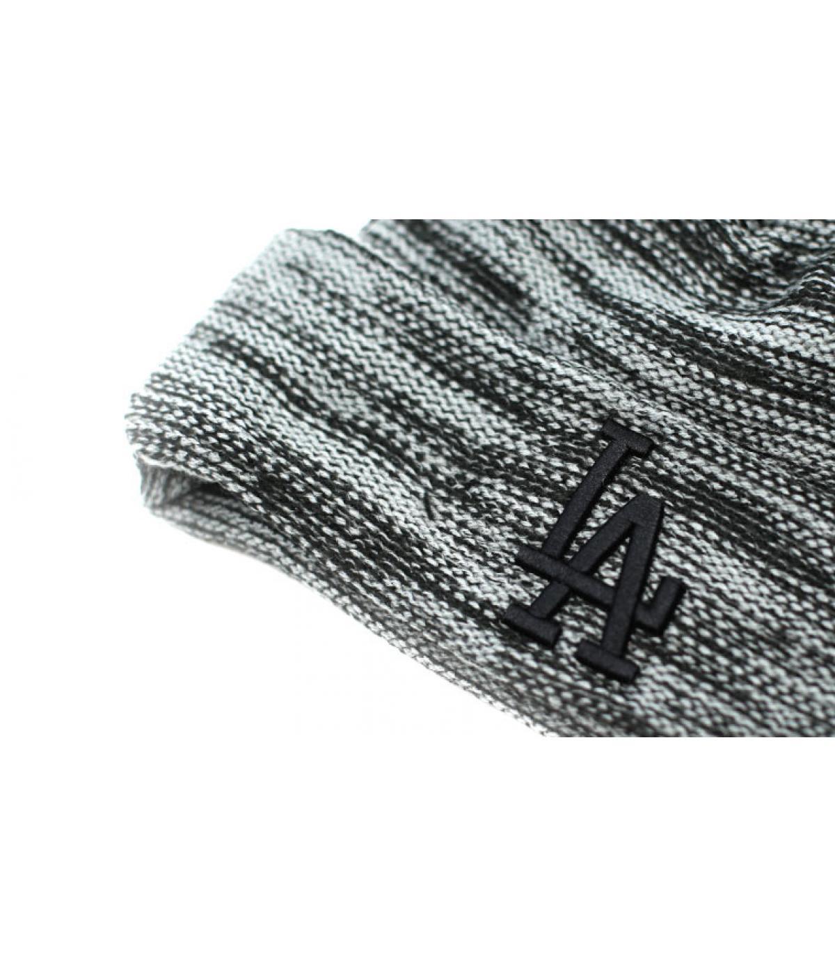 Détails Bonnet LA Marl Knit storm gray black - image 3