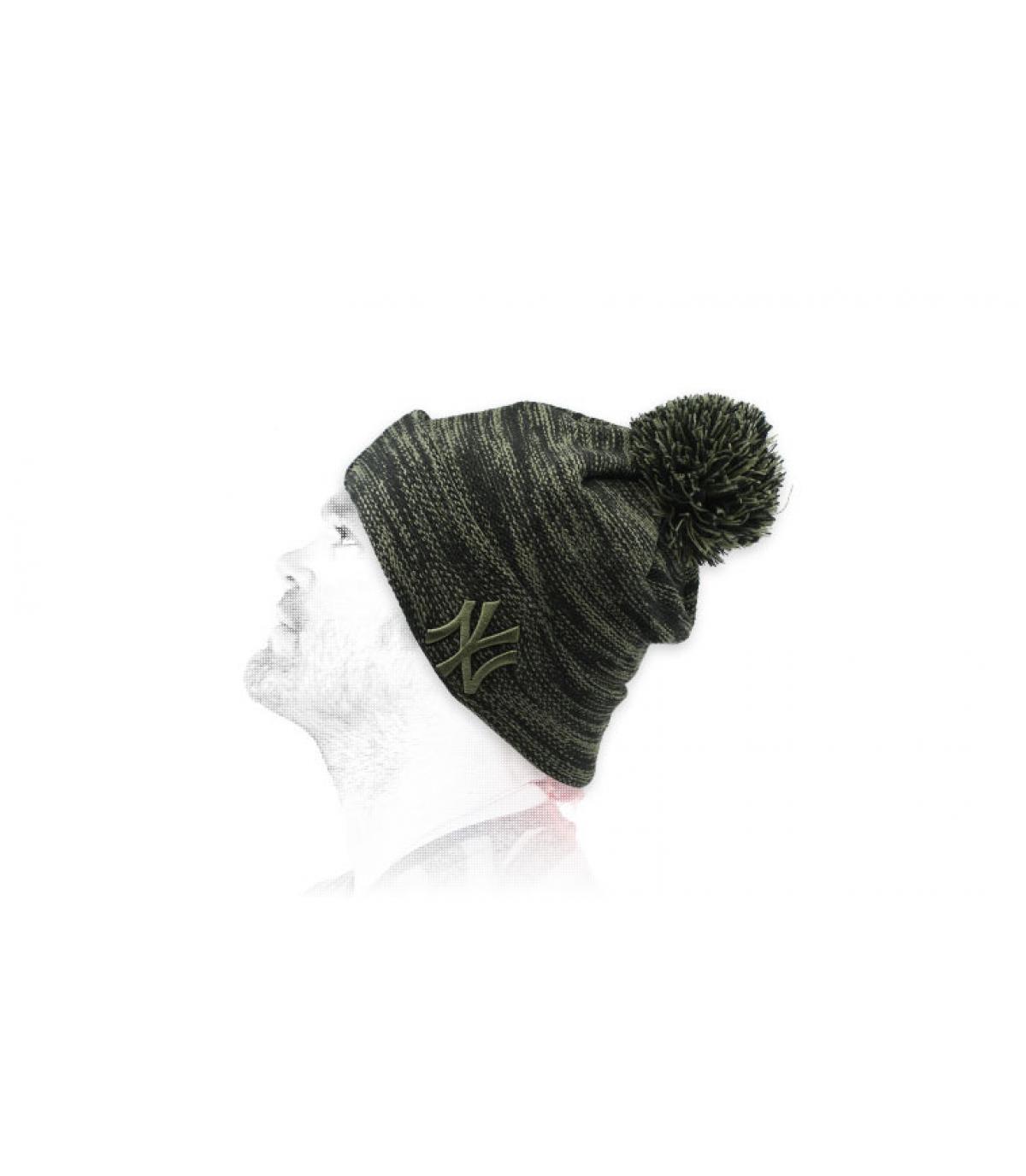bonnet NY noir vert