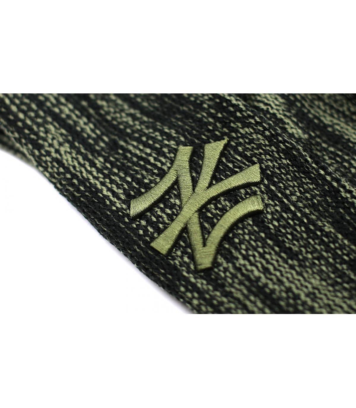 Détails Bonnet NY Marl Knit black Olive - image 3