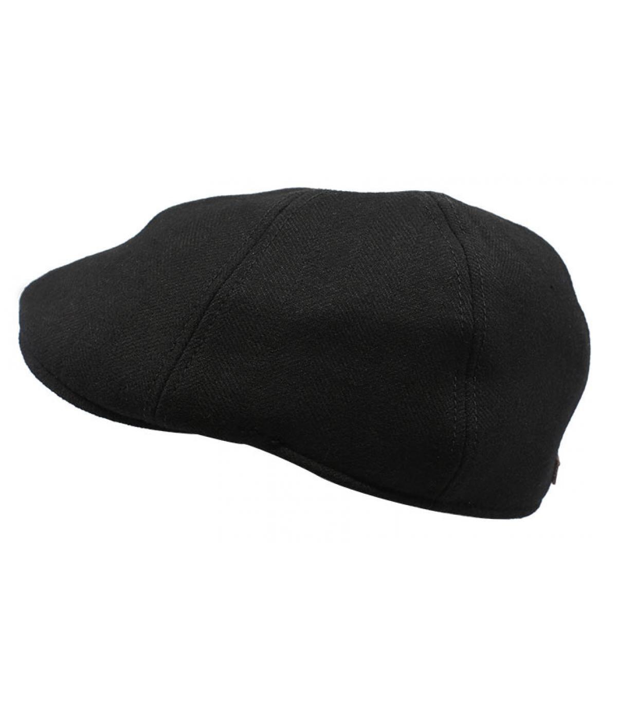 casquette duckbill noir laine