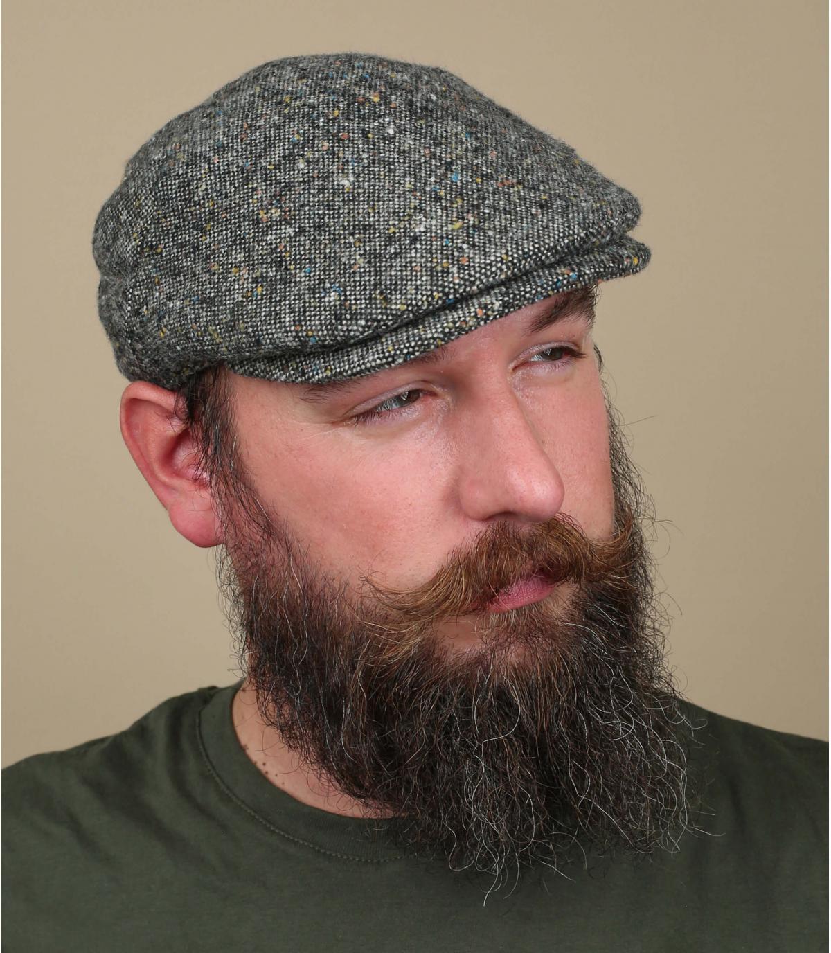 béret gris chiné laine