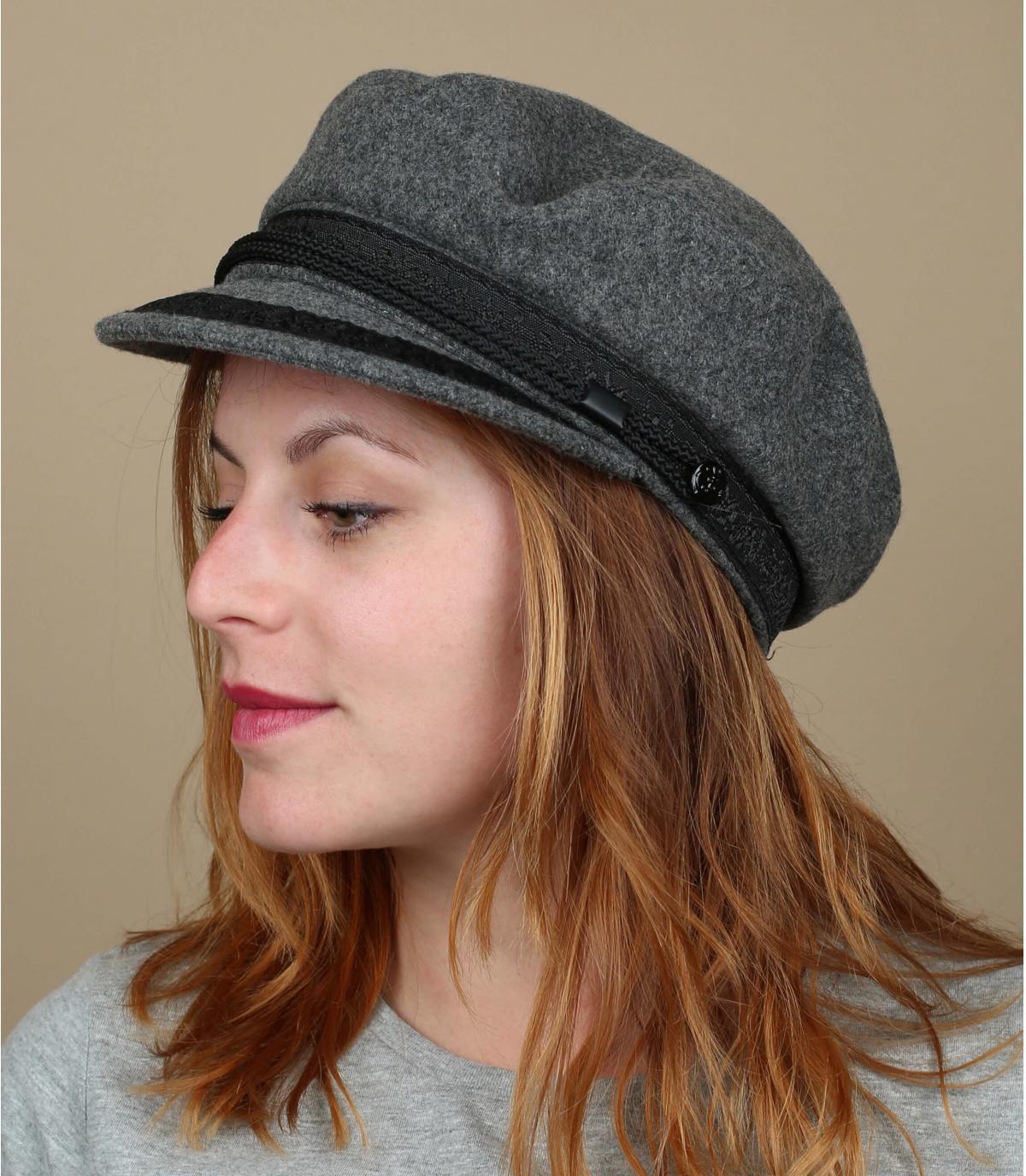 casquette marin gris clair