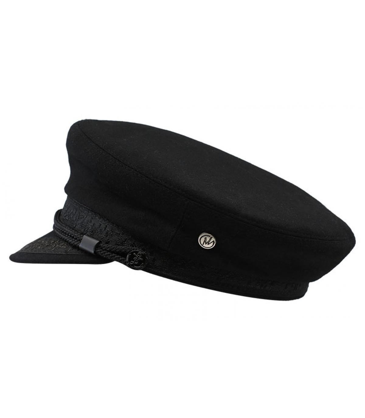 casquette marin noir laine