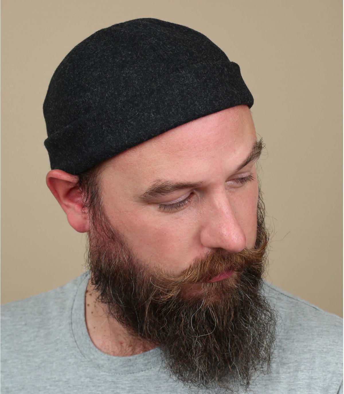 bonnet docker gris laine