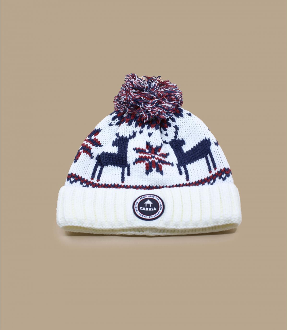 bonnet motif3 pompons