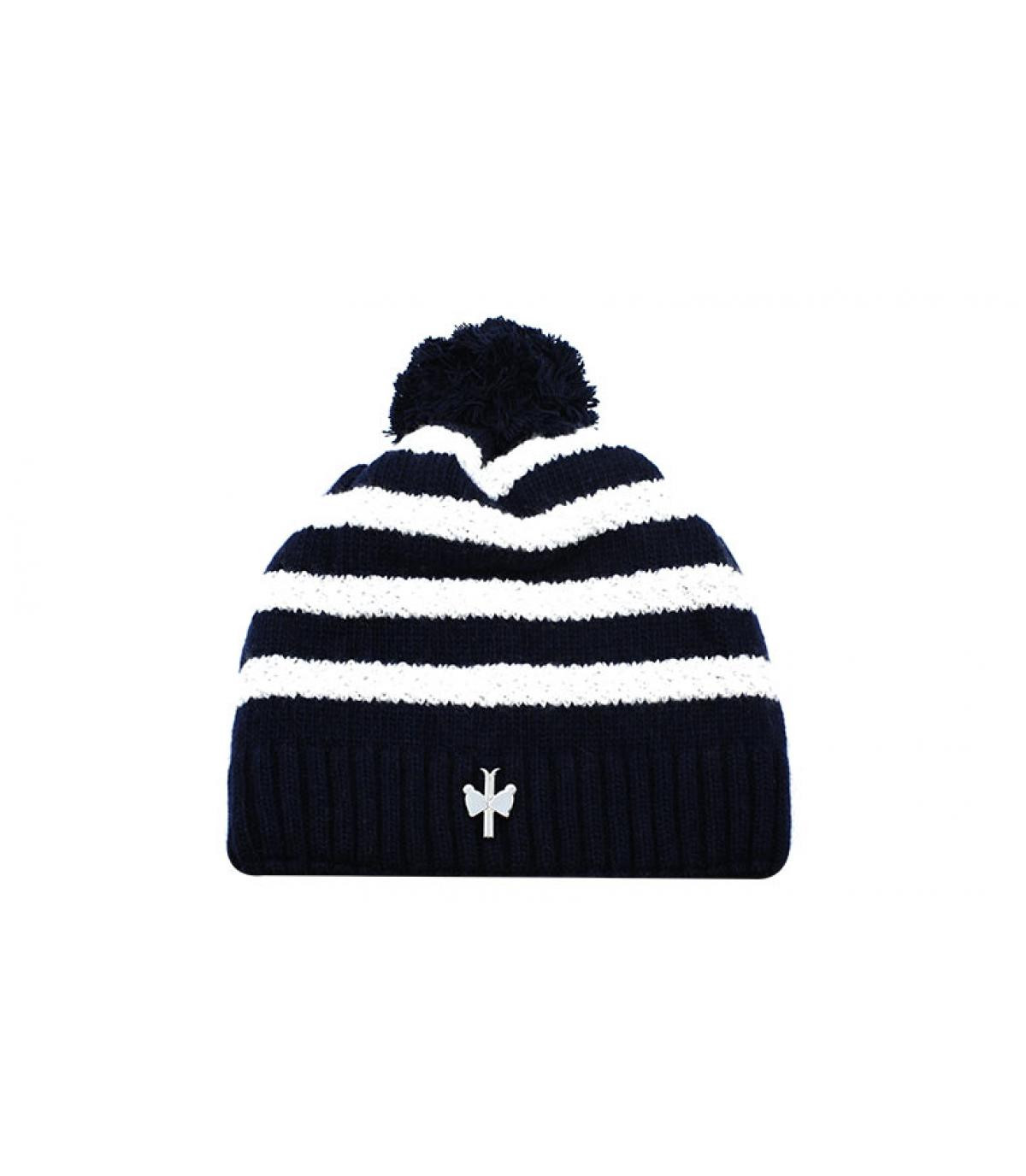 bonnet rayures laine cachemire