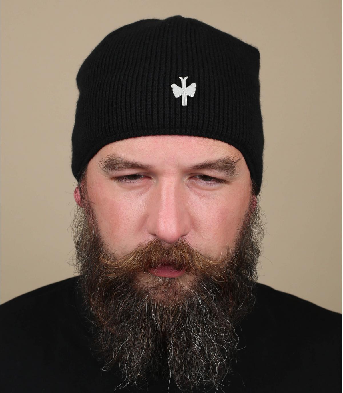 bonnet laine cachemire noir