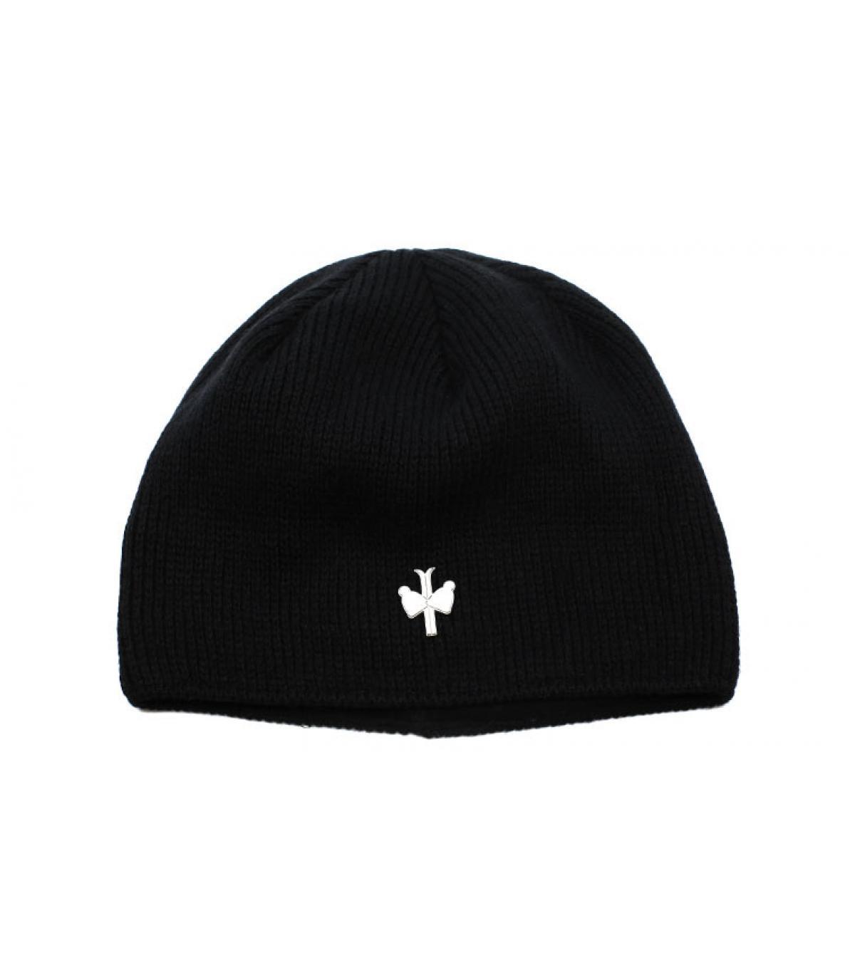 bonnet laine cachemire noir - Hambourg noir Pipolaki - image 1 ... a4fa9bbb5357