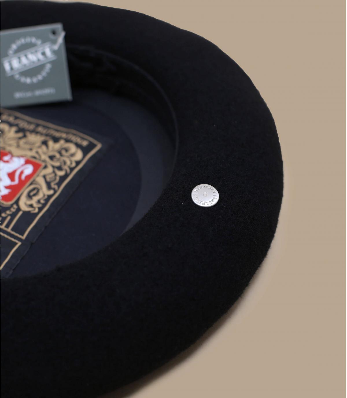 Détails Beret vrai basque noir - image 3