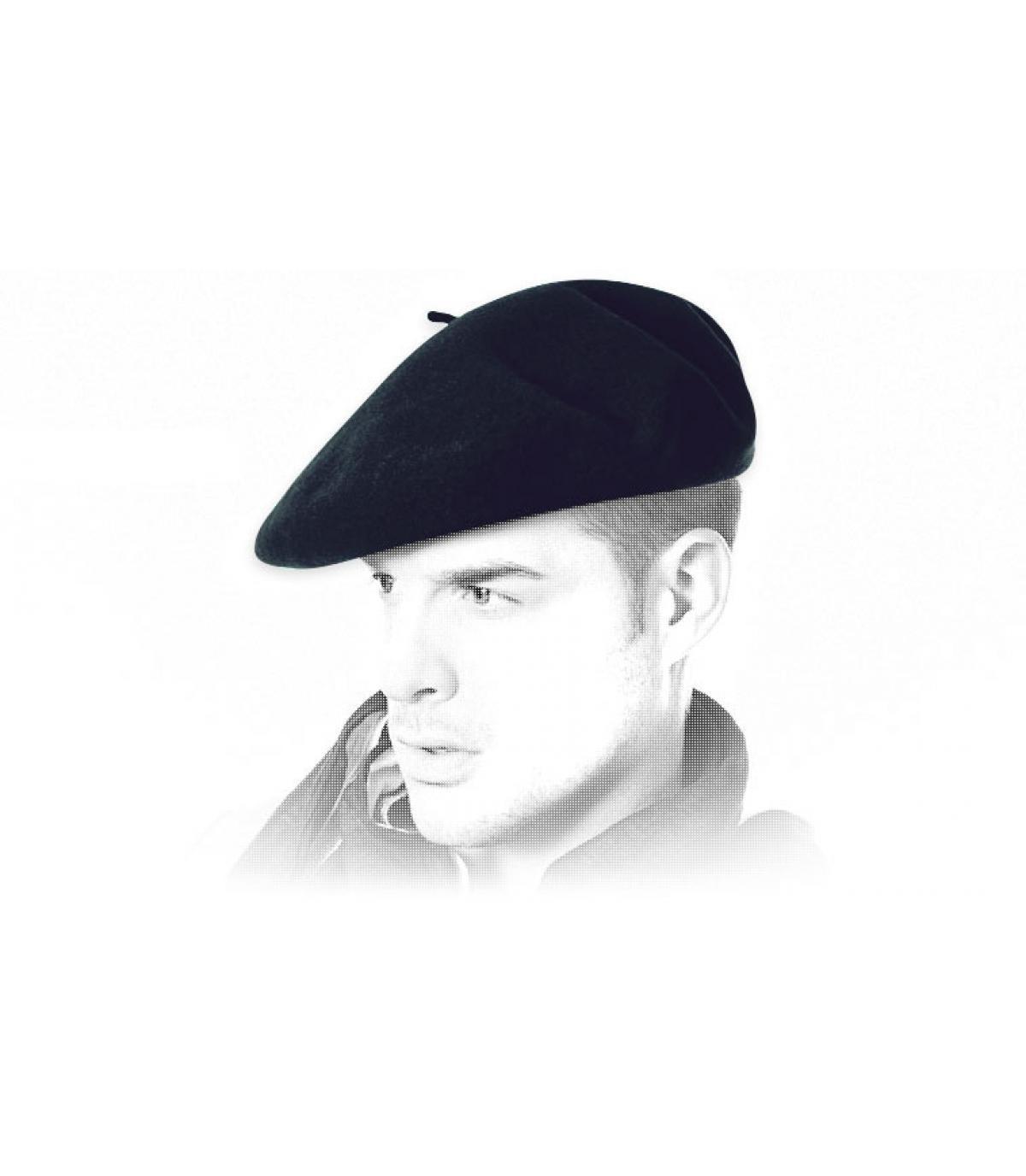 Véritable beret basque marine