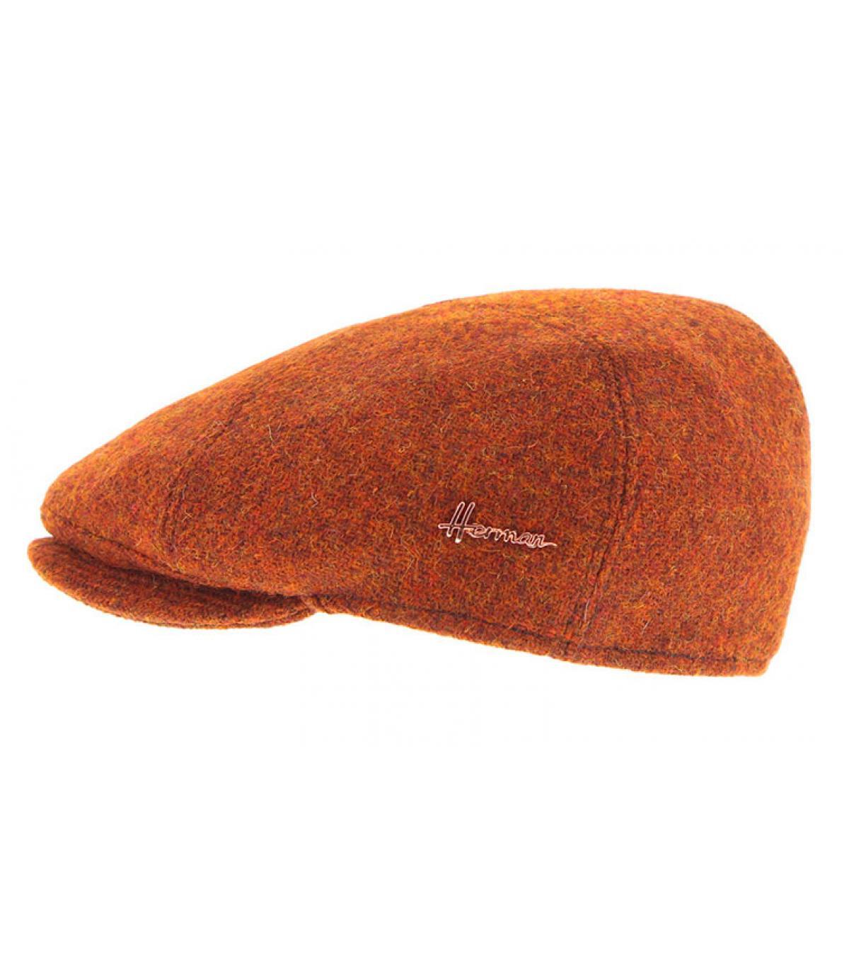 béret orange tweed Herman