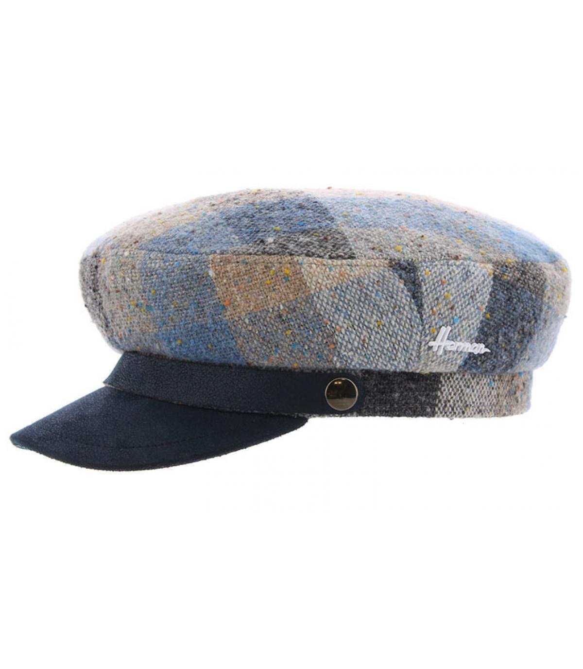 casquette marin carreaux bleu