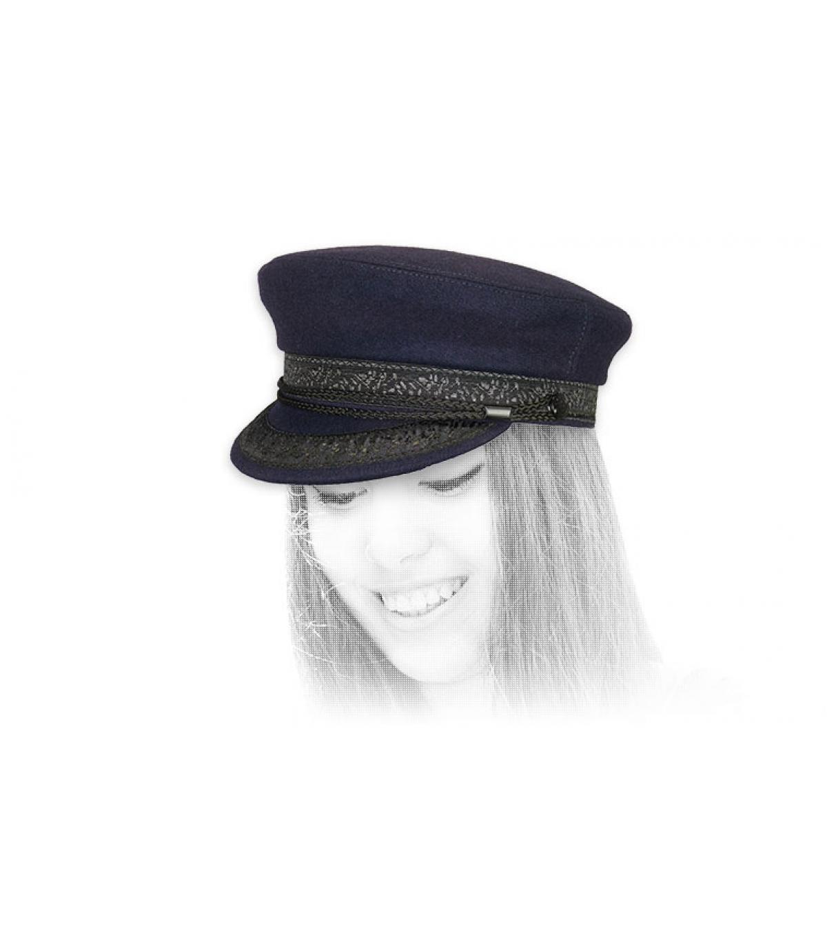 casquette marin bleu laine