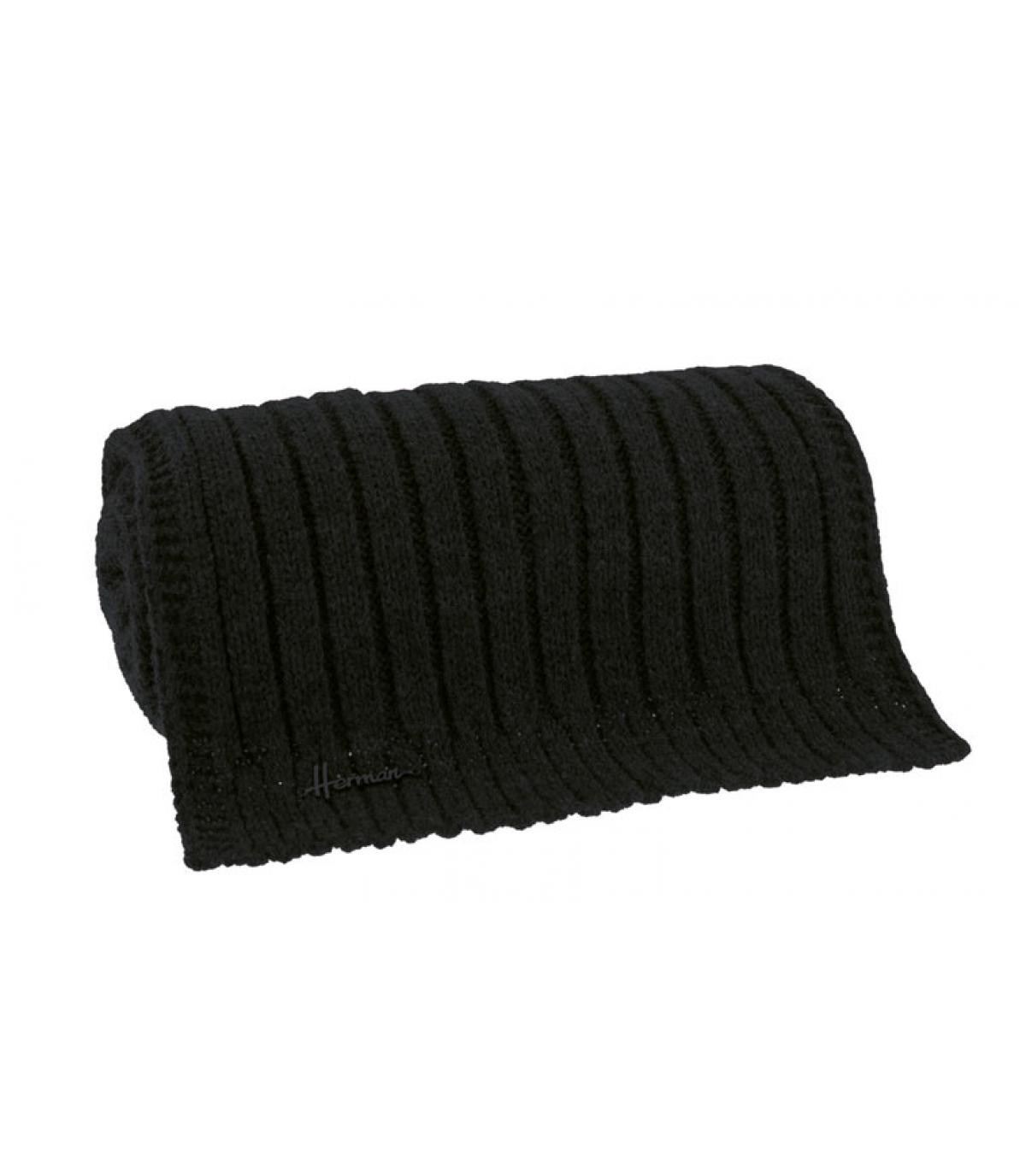 écharpe noir douce