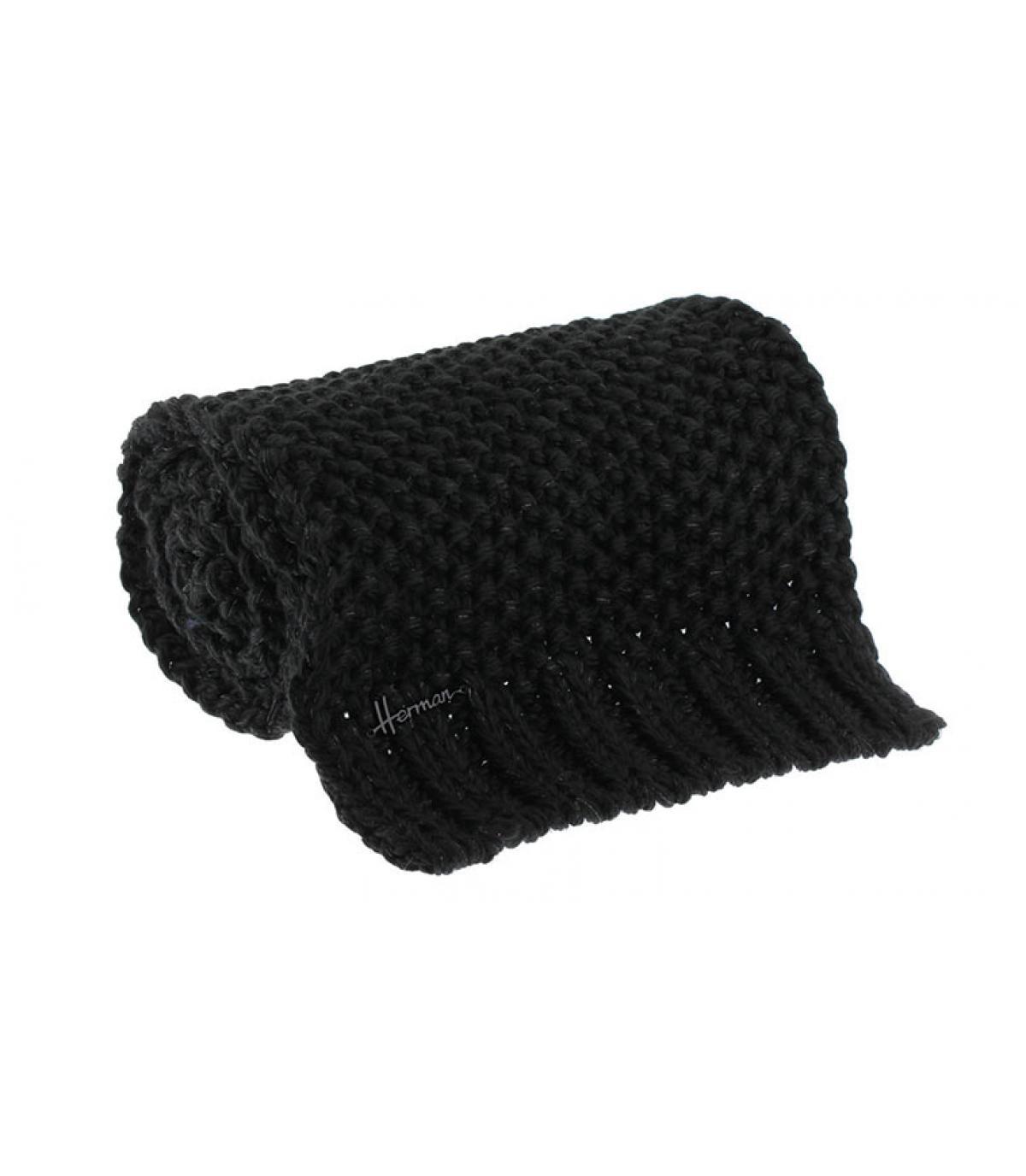 écharpe noir lurex