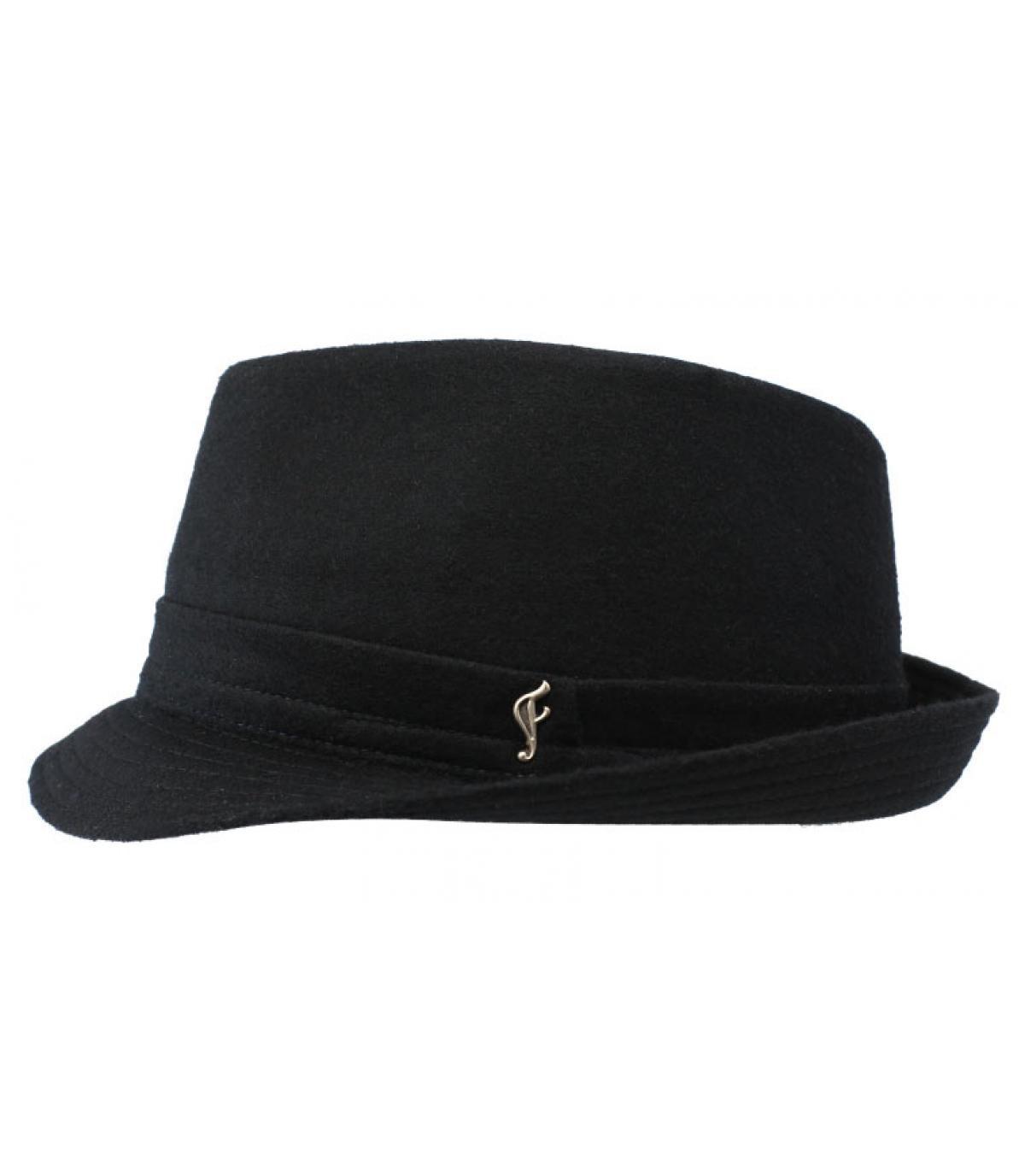 trilby noir laine Fléchet