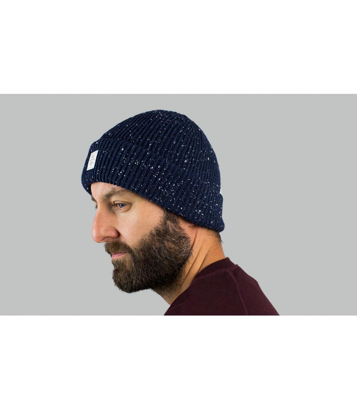 bonnet revers bleu Barts