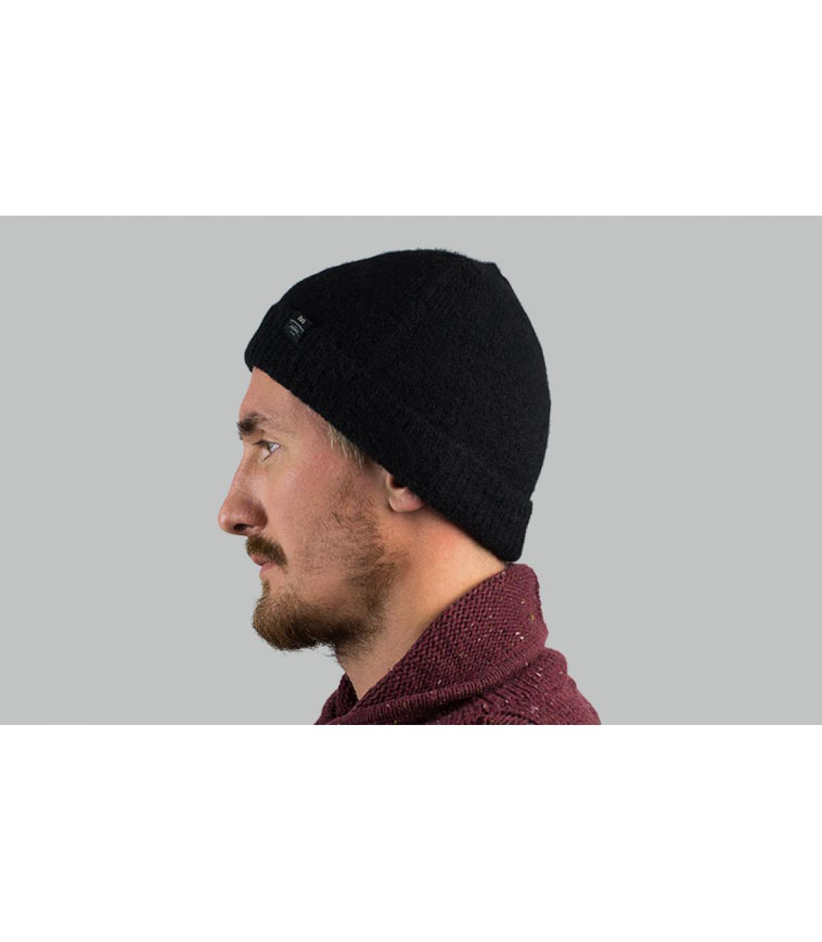 bonnet alpaga noir Barts