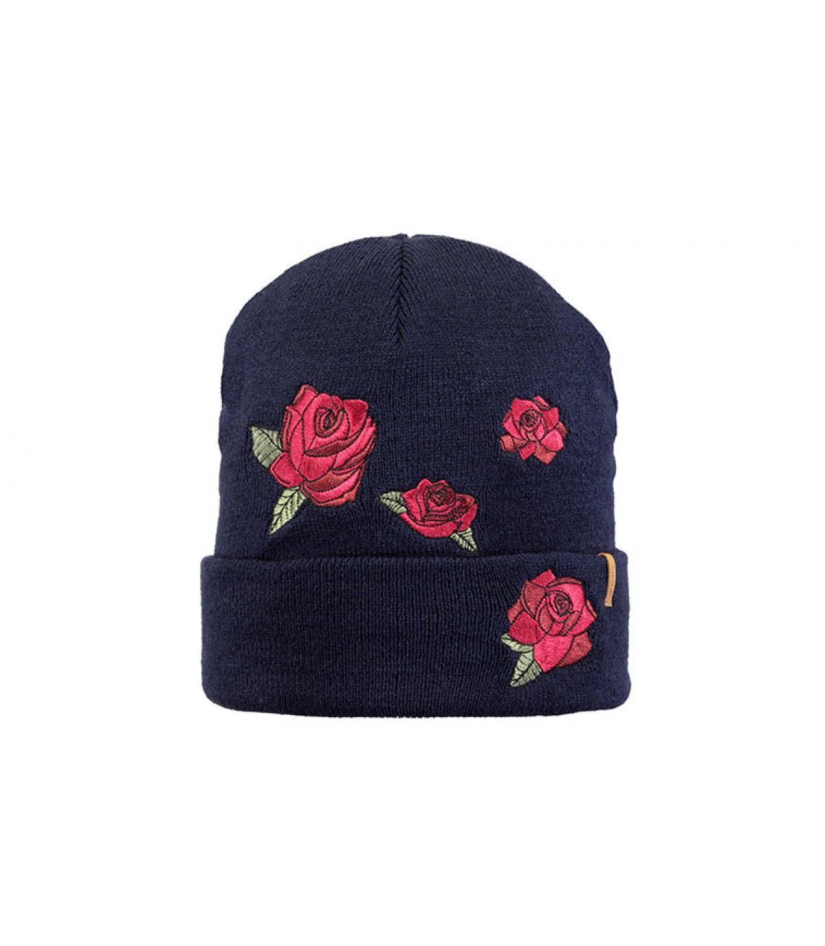 bonnet fleurs bleu Barts